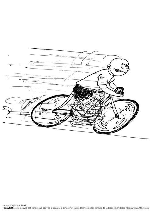 Rudy fait du vélo
