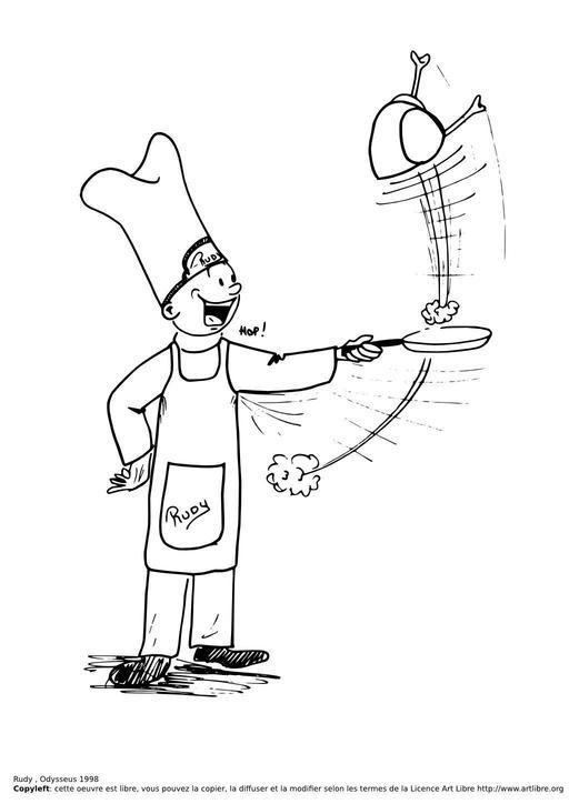 Rudy fait la cuisine