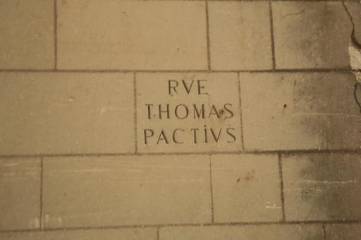 Rue Thomas Pactius à Loches