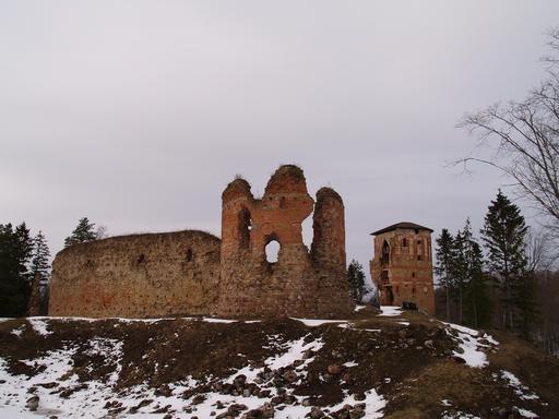 Ruines de château médiéval en Estonie