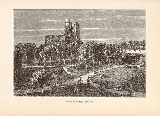 Ruines du château de Gisors en 1882
