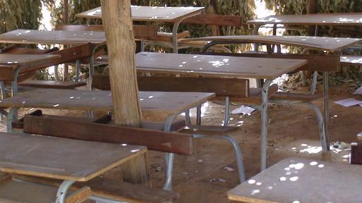 Salle de classe en paillote