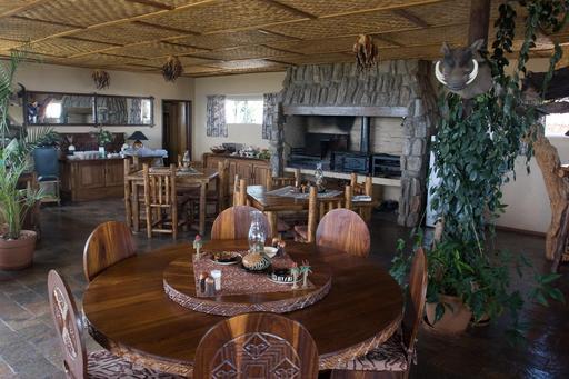Salle de restaurant en Namibie