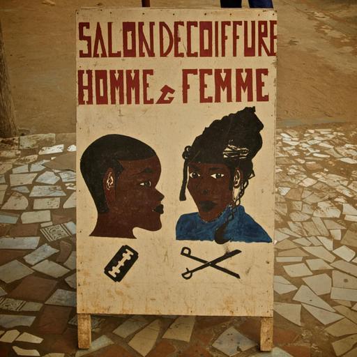 Salon de coiffure en Afrique