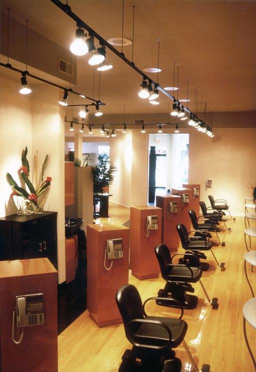 Salon de coiffure vide
