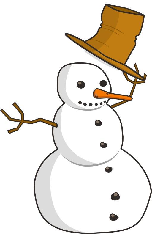 Salut du bonhomme de neige
