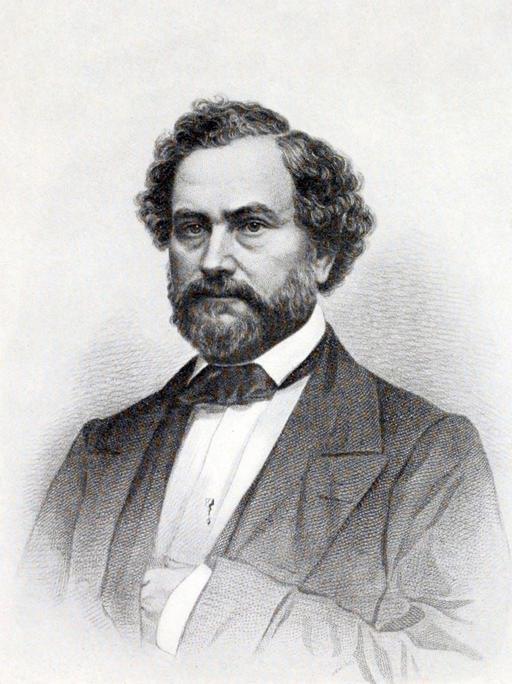 Portrait de Samuel Colt en 1857