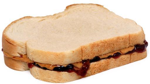 Sandwich beurre d'arachide et confiture
