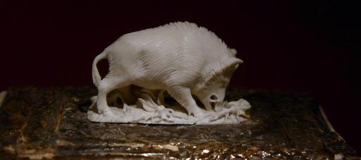 Sanglier en ivoire