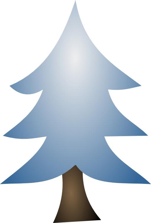 Sapin de Noël bleu stylisé