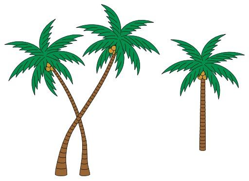 Schéma de palmiers