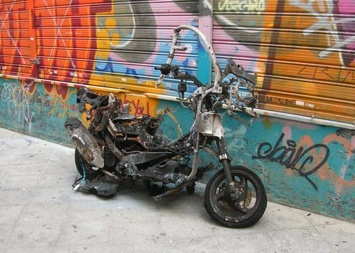 Scooter accidenté