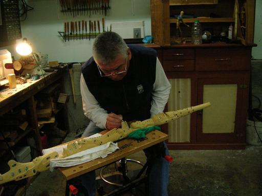Sculpteur sur bois au Canada
