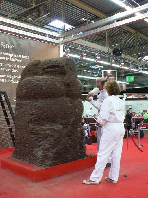 Sculpture de chocolat à Bruges