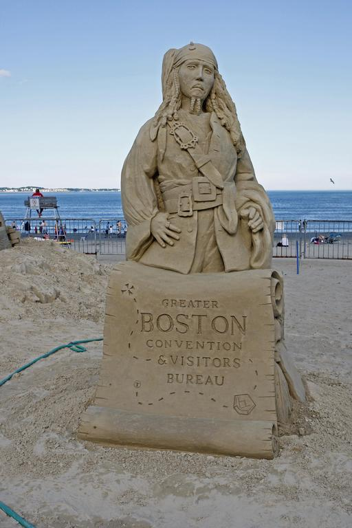 Sculpture en sable de Jack Sparrow