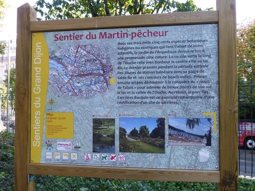 Sentier du martin-pêcheur à Dijon