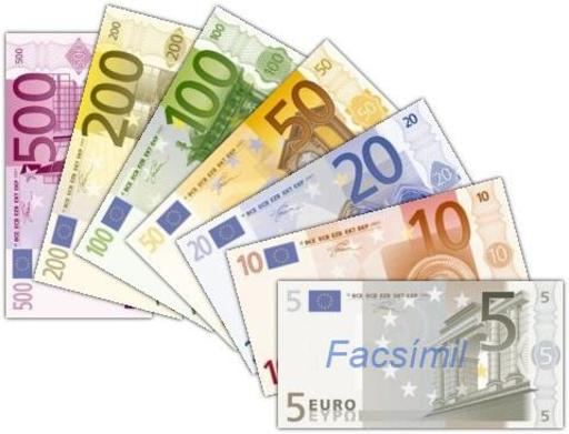 Sept billets d'euros espagnols