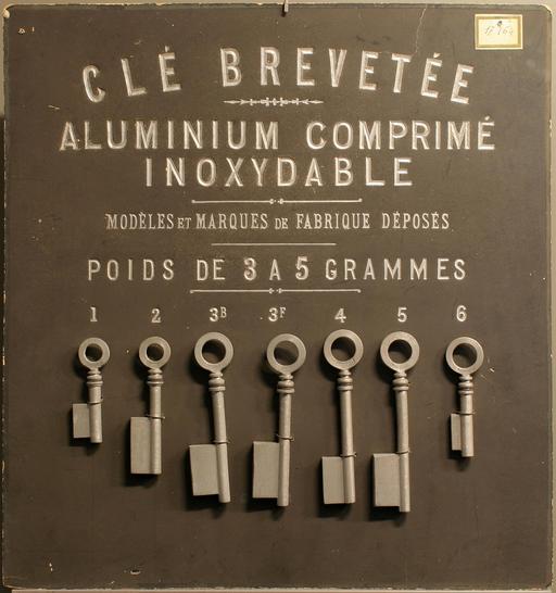 Sept clés en aluminium en 1892