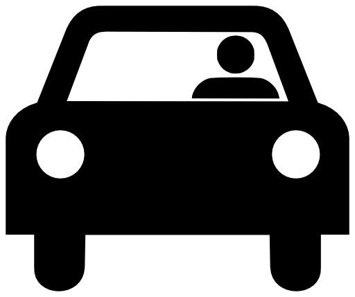 Silhouette d'automobile avec conducteur