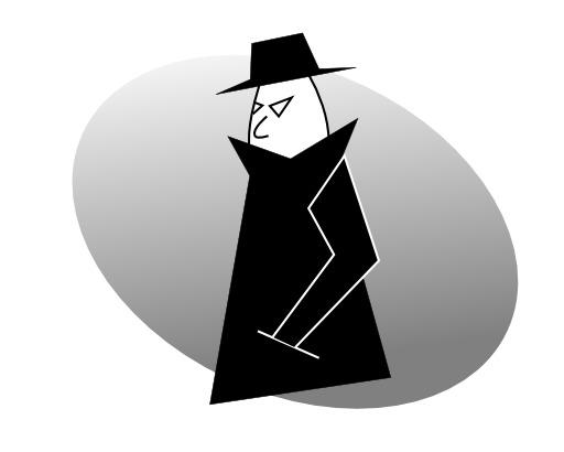 Silhouette d'espion