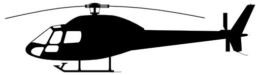 Silhouette d'hélcoptère