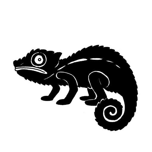 Silhouette de caméléon