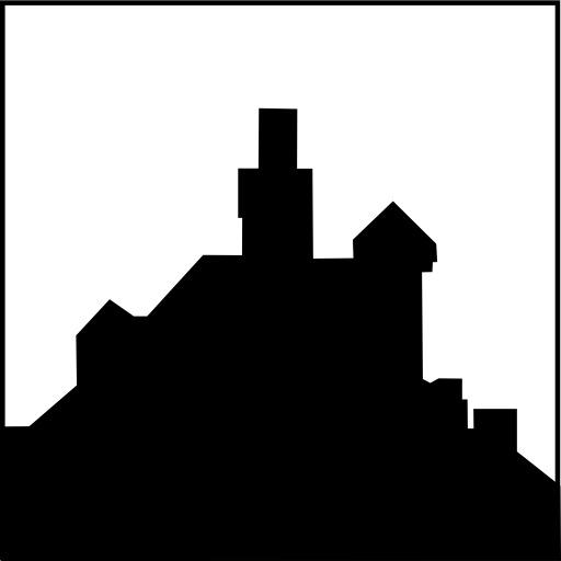 Silhouette de château fort