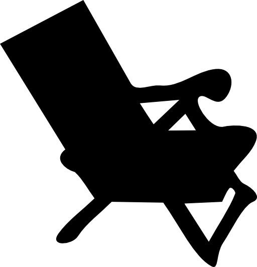 Silhouette de fauteuil de plage