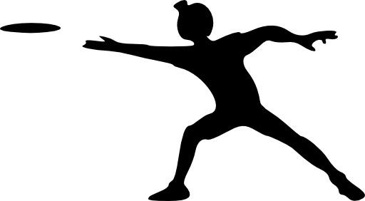 Silhouette de lanceur de frisbee