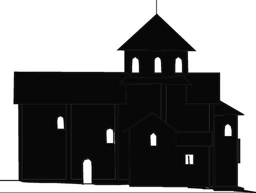 Silhouette de monastère