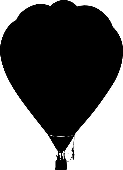 Silhouette de montgolfière