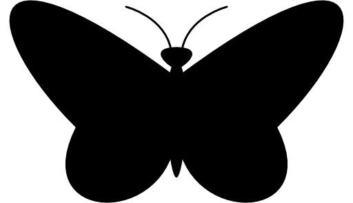 Silhouette de papillon