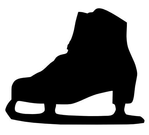 Silhouette de patin à glace
