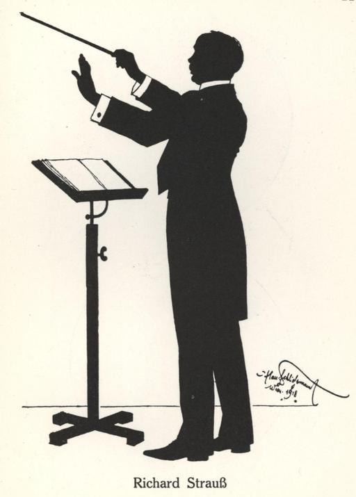 Silhouette de Richard Strauss en 1918