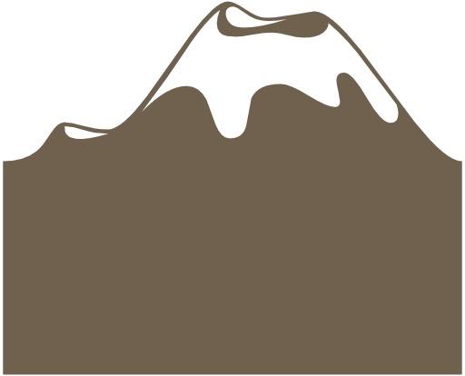 Silhouette de volcan