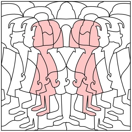 Silhouettes de fillettes