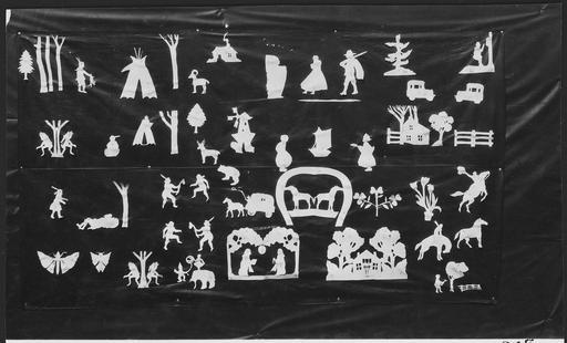 Silhouettes en papier découpé indiennes
