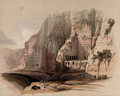 Site de Petra en 1849