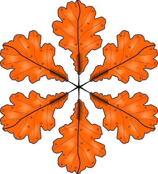 Six feuilles d'automne