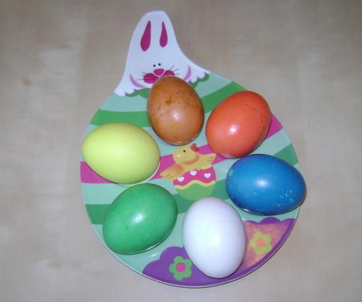 Six oeufs de Pâques