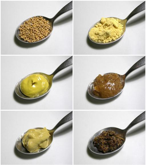 Six variétés de moutarde