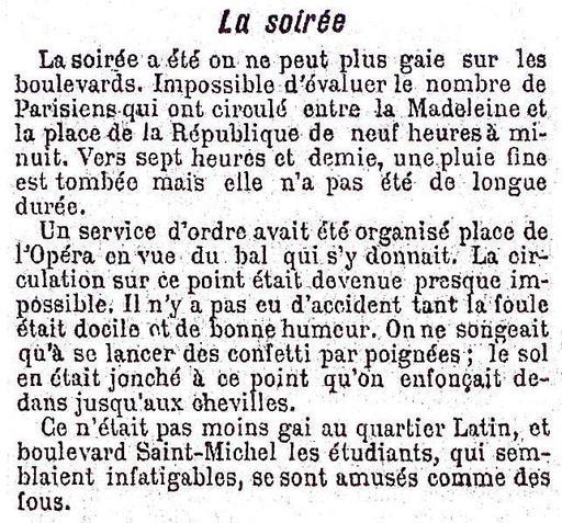 Soirée de Mi-Carème en 1895