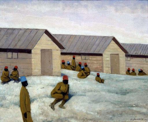 Soldats sénégalais au camp de Mailly