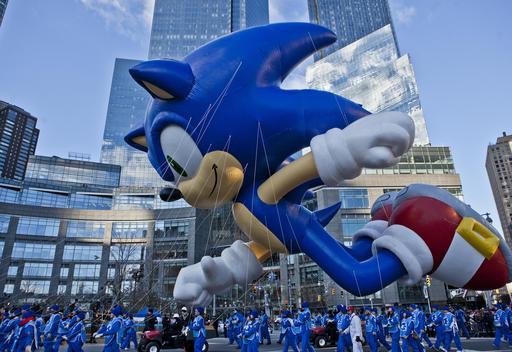 Sonic le hérisson au défilé de Thanksgiving