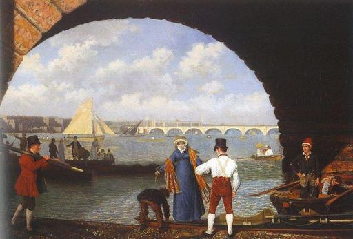Sous le pont de Westminster