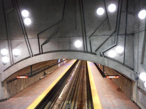 Station de métro décorée à Montréal