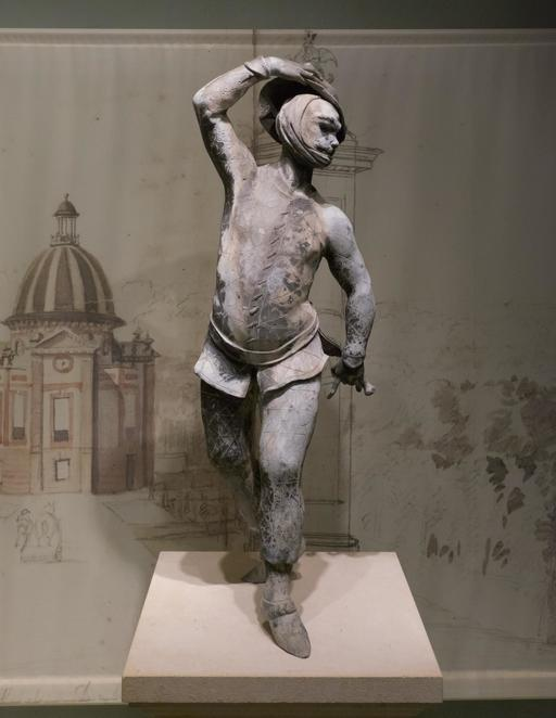 Statue d'Arlequin