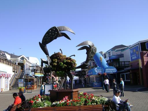 Statue de crabe