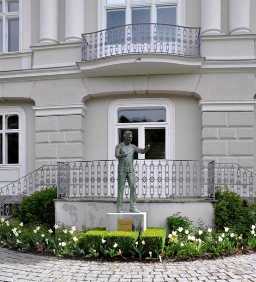 Statue de Karajan à Salzbourg