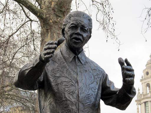 Statue de Nelson Mandela à Londres